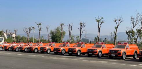 专业引领 行业首选 福田皮卡森林消防车再次交付凉山州政府